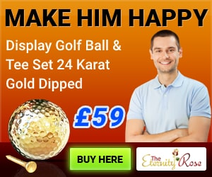 24 Karat golf ball